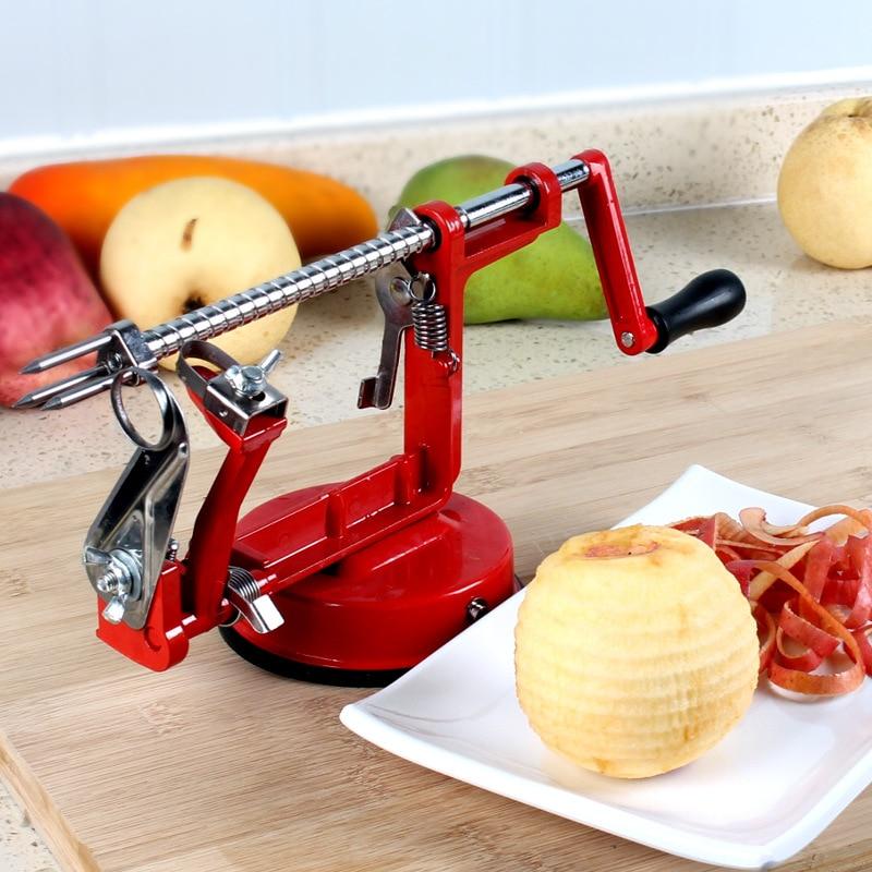 Cortadora de fruta en espiral Manual de patatas cortador de acero inoxidable máquina de manzana cortadora pelador despepitadora caseras peladoras de mano