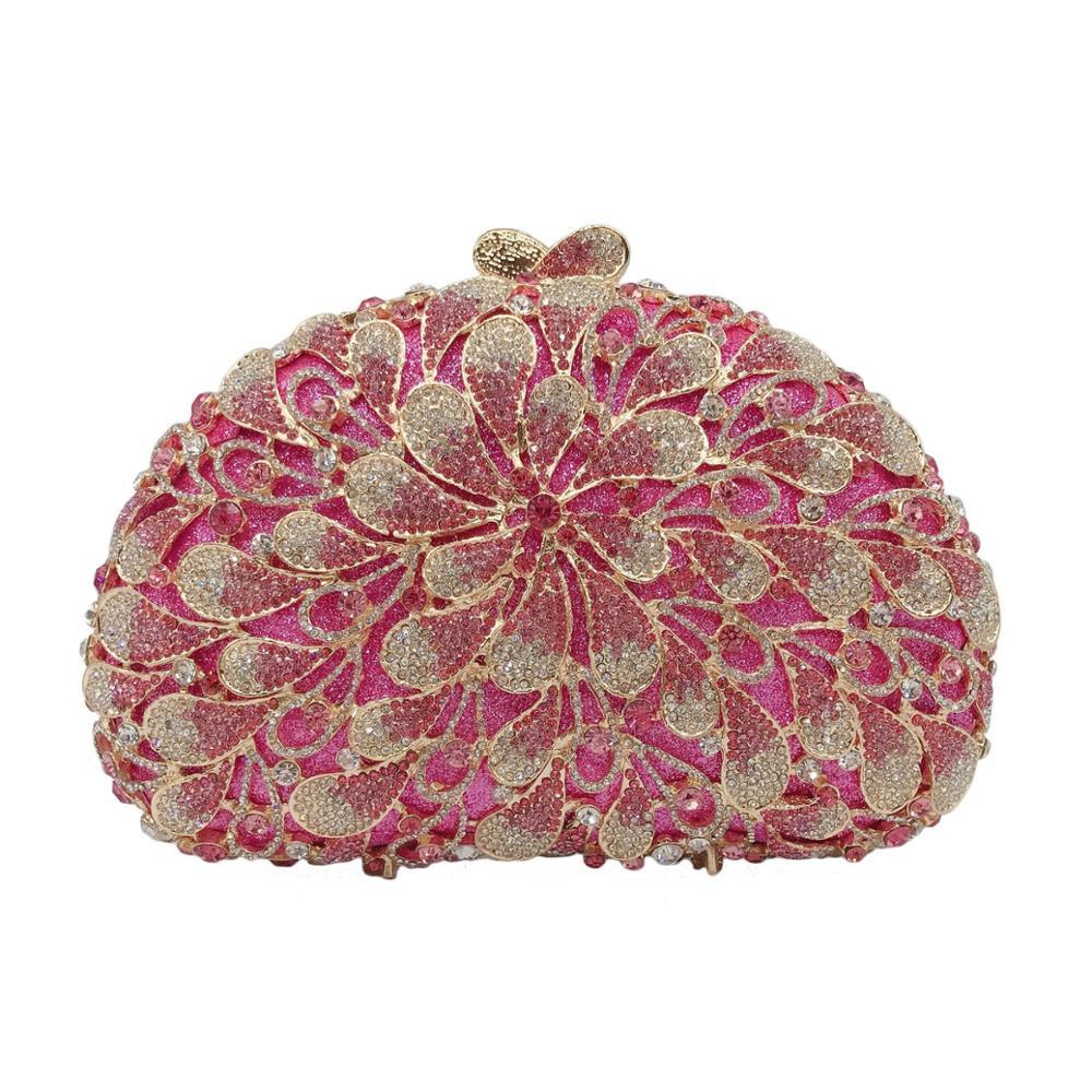 XIYUAN-حقيبة يد مسائية مرصعة بأحجار الراين ، حقيبة سهرة ، أخضر ، فضي ، مع سلسلة ، حقيبة زفاف