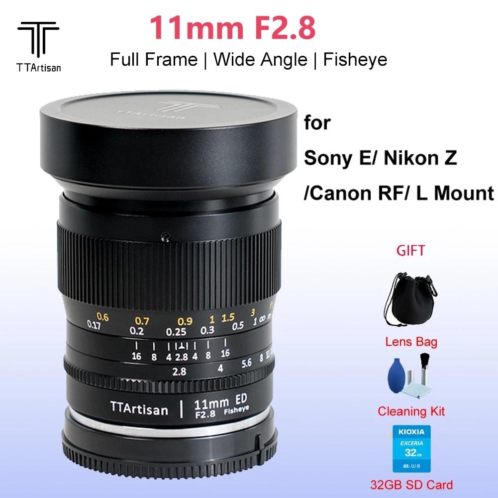 TTArtisan 11 مللي متر F2.8 كامل الشهرة فيش زاوية واسعة دليل التركيز عدسة رئيس ل Leica متر L جبل/كانون RF/نيكون Z سوني E كاميرات