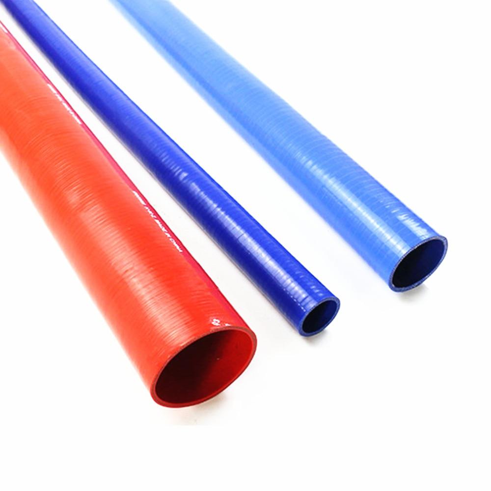 1 metro, manguera de silicona para aspirador de coche, tubo de agua modificado con vapor, tubo de silicona suave de seda trenzada, diámetro interior 6mm-30mm