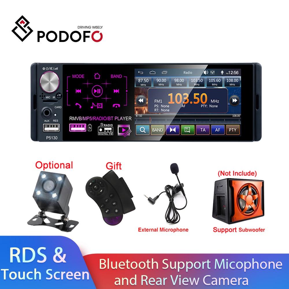 Podofo Car Stereo 1 Din Radio Bluetooth Autoradio 4.1