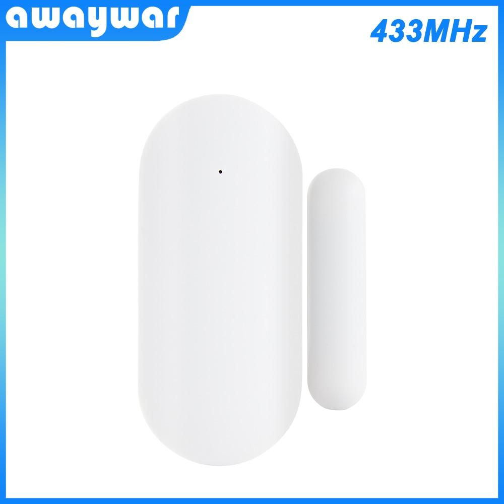 AliExpress - Awaywar 433MHz Door Window Alarm Sensor Wireless Magnetic Switch Contact Detector Signaling for   Intruder Security Alarm System