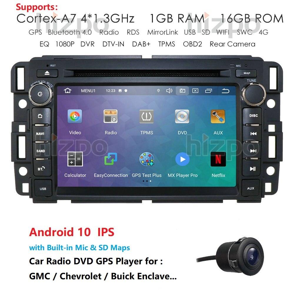 Para chevrolet/silverado/tahoe/monte gmc yukon/denali/acadia android 10 7 din din 2 din rádio do carro dvd player de navegação gps com bt swc
