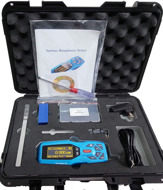 KR220 20 المعلمات Surftest Profilometer المحمولة أداة قياس خشونة الأسطح متر قياس مع الوقت الحقيقي ساعة إعدادات عرض