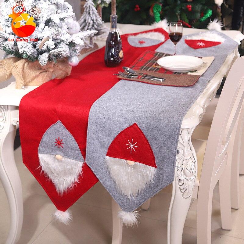 عيد الميلاد-عداء عيد الميلاد ، غطاء طاولة العشاء ، زينة عيد الميلاد المجيد للمنزل ، Navidad