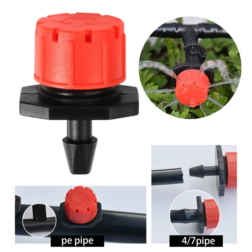 Efecto invernadero jardín riego sistema de riego goteros rojo Micro riego por goteo riego emisor suministros de jardín