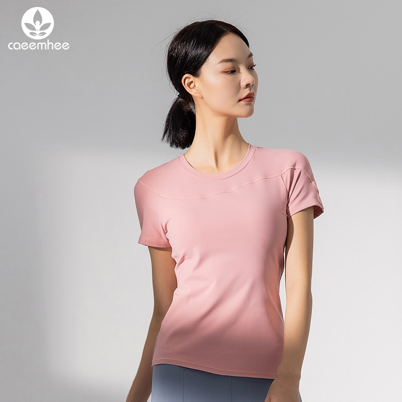 sleeveless yoga top gym shirt fitness t shirt dry workout top sports shirt ladies backless shirt small smock workout shirts for CAEEMHEE Yoga Top Gym Sport Shirt Women Sports Top Women's Fitness T-shirt Quick Dry Running T-shirt Fitness Slim Workout Tops