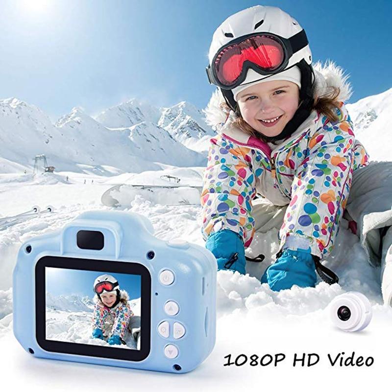 Детские Камера Развивающие игрушки для малышей подарок мини цифровой Камера 1080P проекции видео Камера с 2-дюймовым Экран дисплея