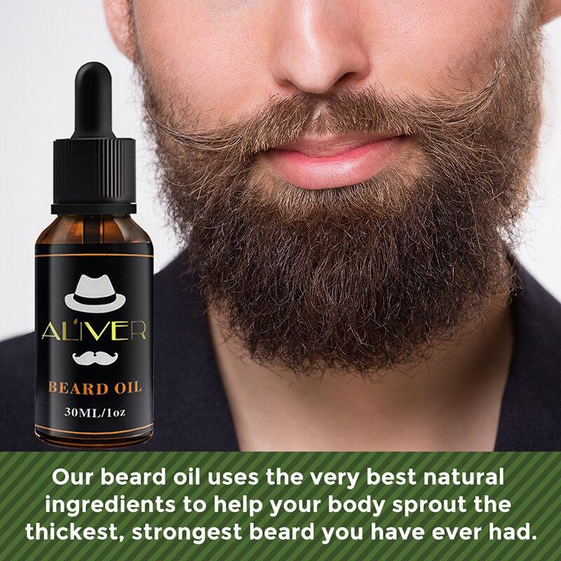 ALIVER Natural orgánico hombres barba crecimiento productos de aceite tratamiento de pérdida...