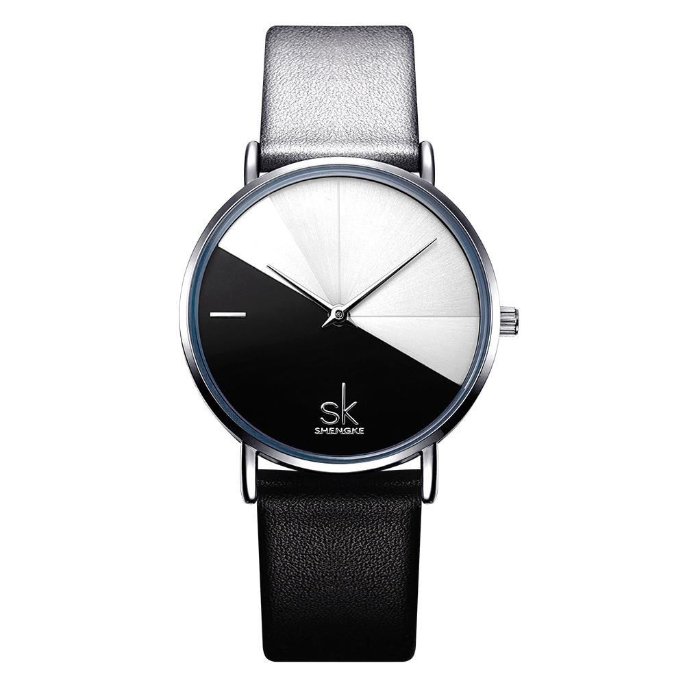 NEW Simple Segmentation Design Women Watch Quartz Wristwatch Girls Clock 3bar Waterproof Round Wrist Bayan Kol Saati Watch enlarge