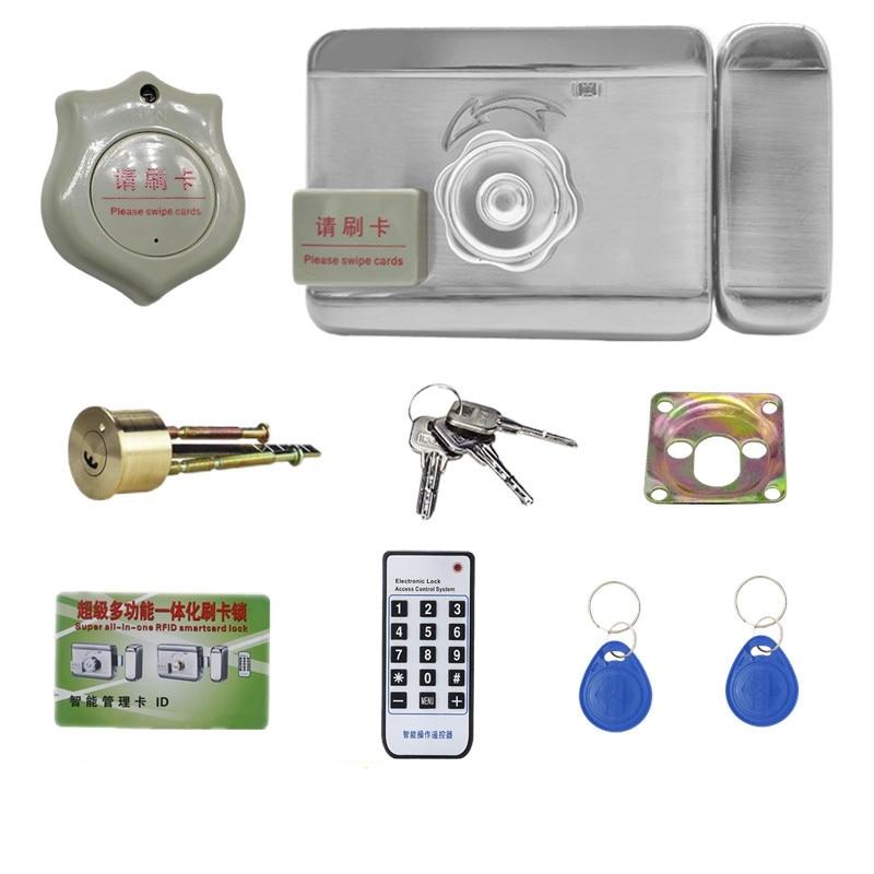 قفل باب كهربائي ذكي ، مجموعة نظام التحكم في الوصول إلى الباب ، مضاد للسرقة ، لأمن المنزل ، تيار مستمر 12 فولت