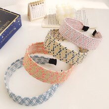 2021 New Boho Hairband Summer Straw Weaving Knotted Headband for Women Cross Handmade Hair Hoop Hair