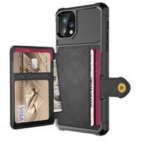 Чехол-бумажник для iPhone 11 Pro, 7, 8 Plus, X, XS, XR MAX, SE 2020, кожаный