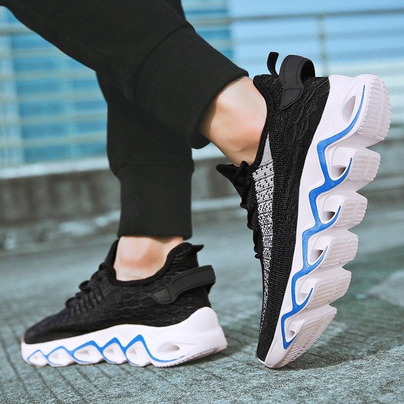 Zapatos informales de malla transpirable para exteriores, Zapatos vulcanizados de encaje para hombre, zapatillas ligeras cómodas, Tenis femeninos, Zapatos grandes