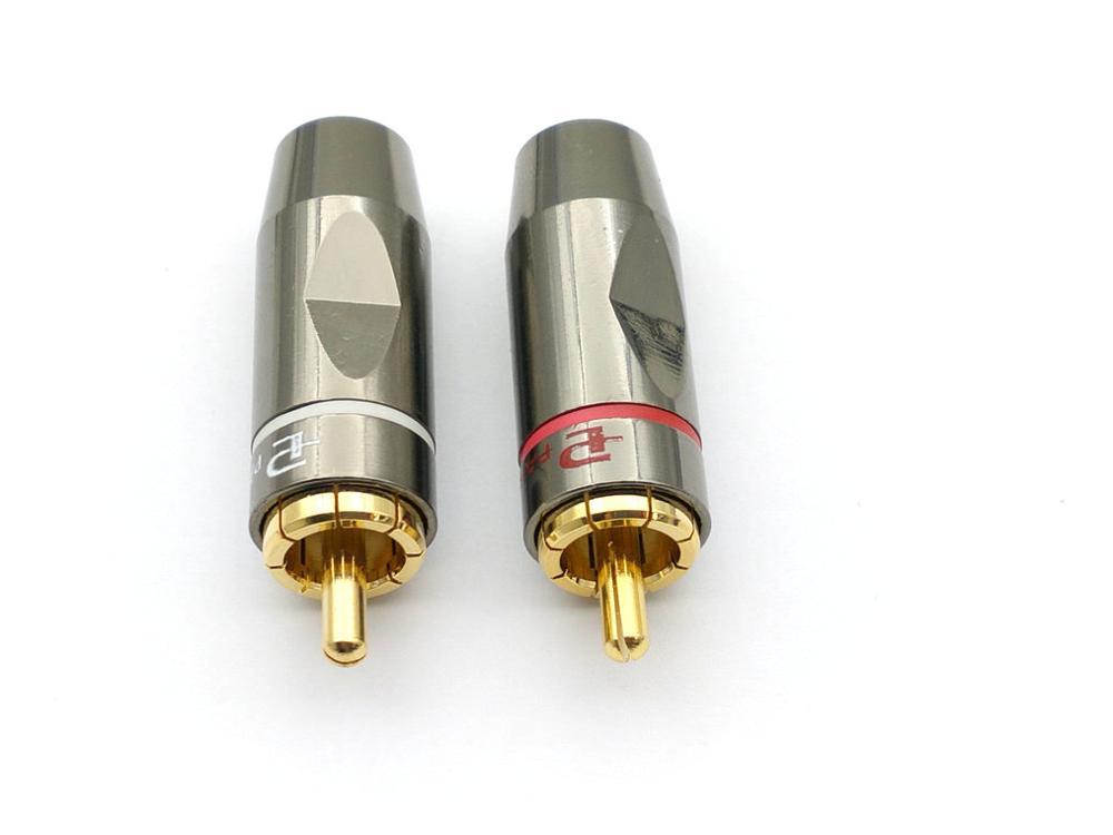 50 قطعة النحاس سدادة RCA الصوت لحام موصل محول