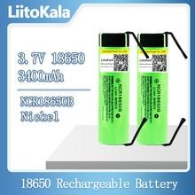 Hot LiitoKala ใหม่ NCR18650B 3.7V 3400MAh 18650แบตเตอรี่ลิเธียมแบตเตอรี่ + DIY นิกเกิลชิ้น