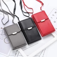 brand newest women casual wallets fashion mobile phone bag card holders mini handbag clutch mujer messenger straps cartera solid