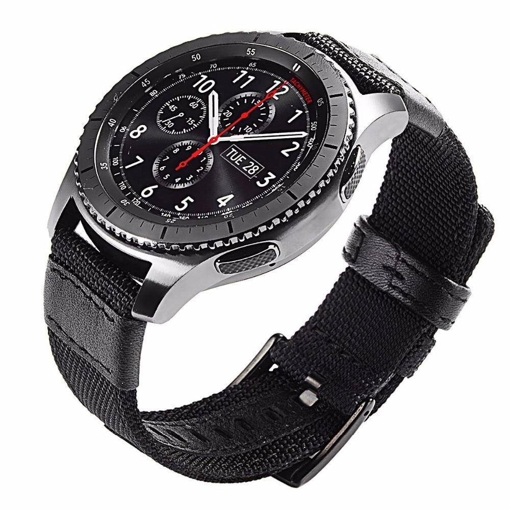 Pulseiras de relógio substituíveis de náilon 22mm para o esporte fóssil 43mm q explorist hr gen 4 3 2 pulseira correia acessórios inteligentes