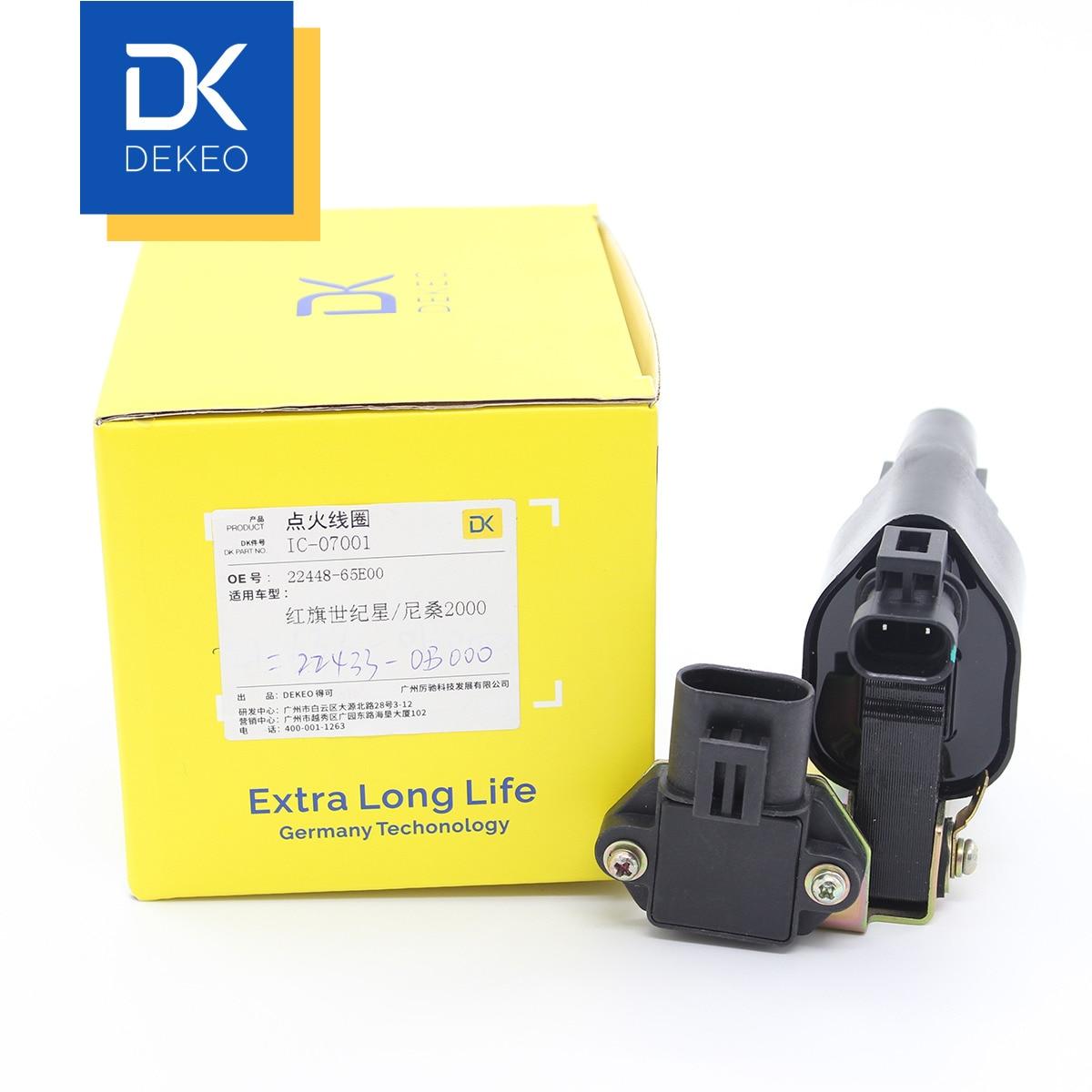 DEKEO bobinas de encendido para Hong Qi Mingshi Shijixing Nissan Bluebird U11 22448-65E00