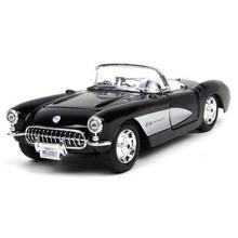1/24 1957 Chevrolet Corvette Alloy Diecast Maisto Model Cars Simulation Metal Car Miniatures Voiture Mini Car Collection Toys