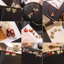 Korean Cartoon Cute Mouse Earrings 2020 New Style Elegant Birth Year Normcore Style Simple Bracelet Necklace Ear Stud