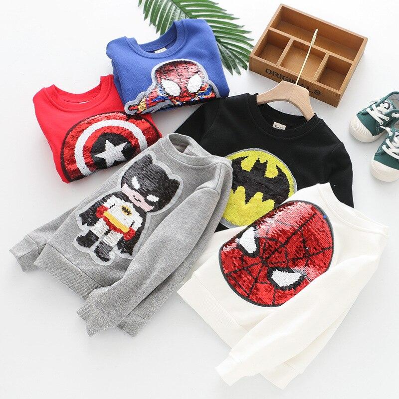 Los niños de terciopelo de Color cambiando jersey con lentejuelas camiseta Camiseta de manga larga de invierno de 2019 nuevos niños Tops bebé niño ropa niños ropa