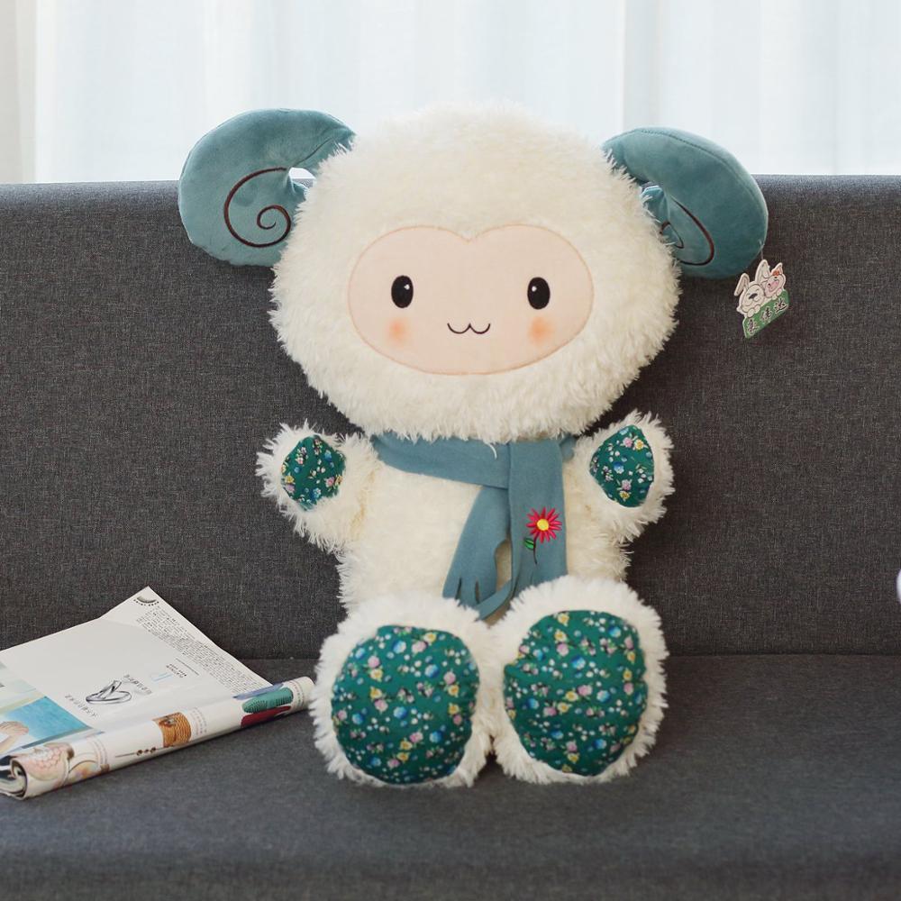 Dropshipping 85cm Peluche Cordero juguete suave oveja Peluche Animal almohada de oveja para bebés niños regalos
