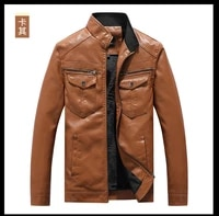 hot sale leather mens motorcycle leather jacket autumn and winter handsome business thin baseball uniform jacket