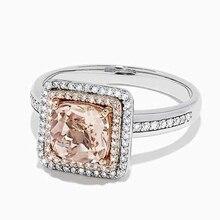 Accesorios clásicos Huitan, anillo de compromiso con decoración de estilo de mediados de siglo para mujer, anillo con piedra de zirconia cúbica de Color champán