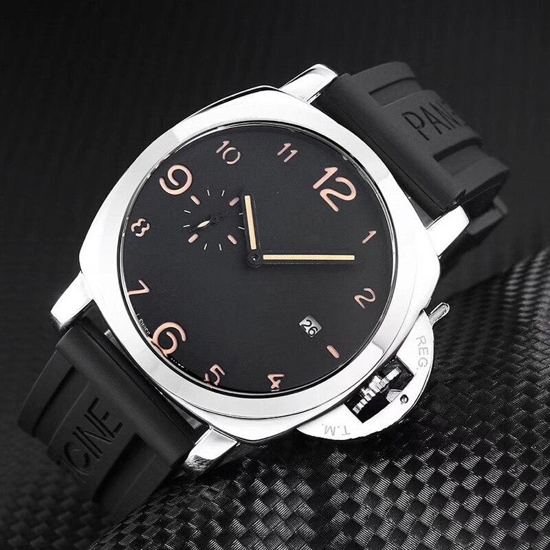 Reloj deportivo de marca de lujo para hombre, correa de cuero a la moda, relojes de cuarzo para hombre, reloj de pulsera luminoso