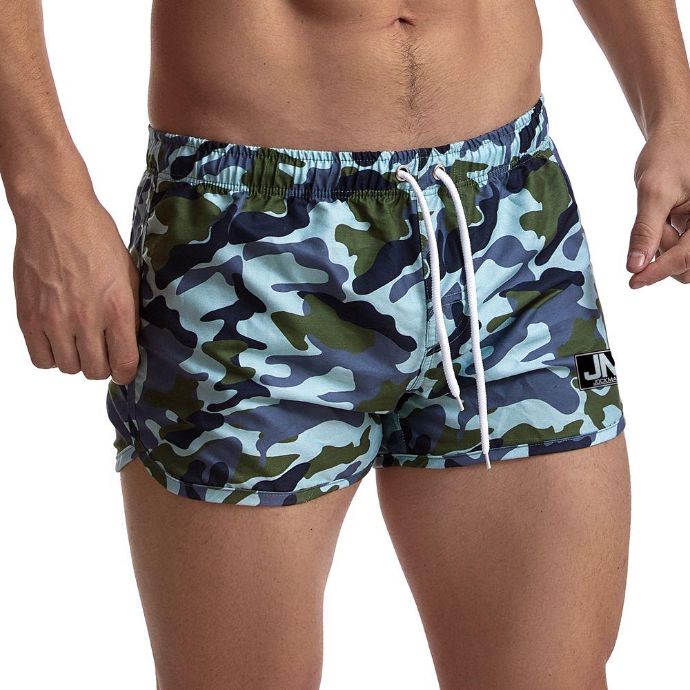 Шорты для серфинга мужские с камуфляжным принтом, пляжные короткие шорты для плавания с карманами, летние спортивные мужские шорты для бега...
