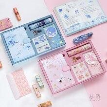 Kawaii Notebook Journal  Girls DIY Agenda Planner Organizer Spiral Note Book Set Cute Travel Handbook with tool