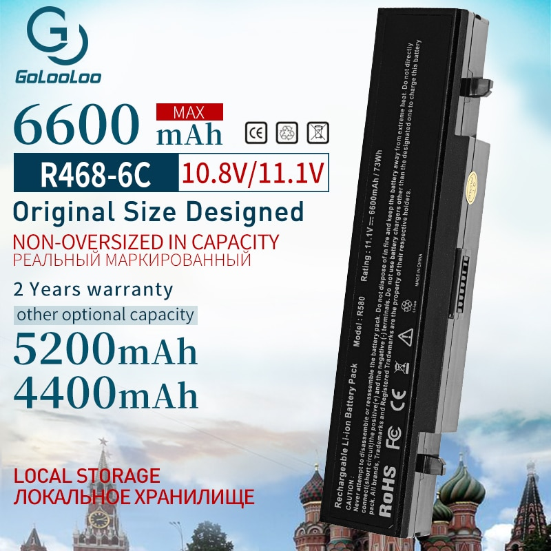 Аккумулятор для ноутбука 6600 мАч Aa Pb9ns6b для Samsung aa pb9nc6b R540 R519 R525 R430 R530 RV511 RV411 np300v5a R528 AA-PB9NS6B PB9NC6B