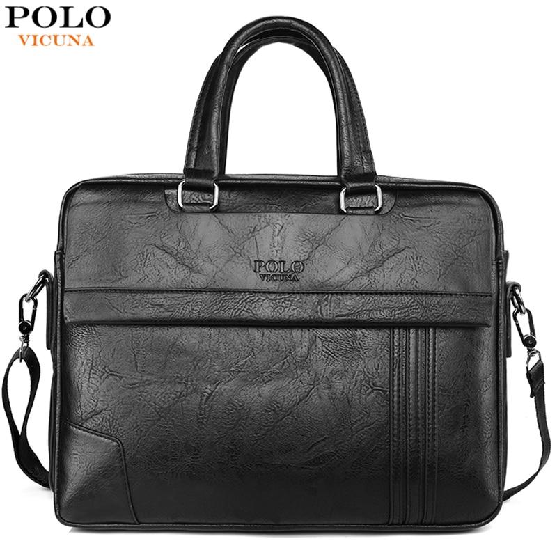 VICUNA POLO, вместительная кожаная мужская сумка-портфель, Классическая деловая офисная сумка для мужчин, сумка на плечо, мужская сумка, новое поступление