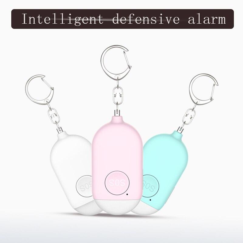 Персональная охранная сигнализация, портативное устройство безопасности с брелоком, экстренная аварийная самооборона, вытяжное кольцо, домашняя женская пожилая сирена дБ