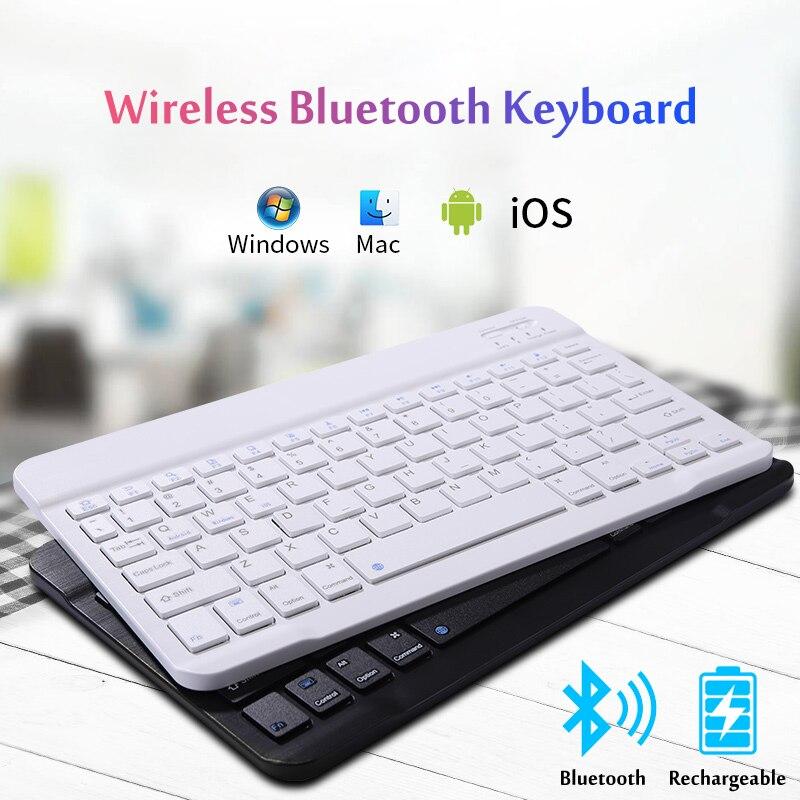 Ultra-fina mini teclado sem fio bluetooth, para ipad iphone samsung huawei android ios windows telefone inteligente tablet
