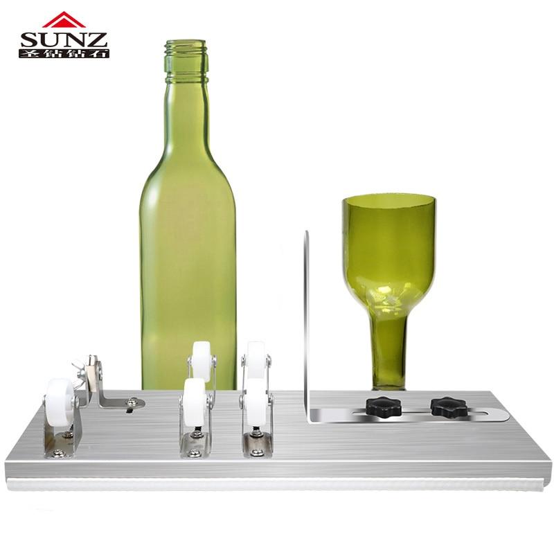 قطع الزجاج زجاجة 3 عجلات القاطع 5 عجلات قطع زجاجات النبيذ قطع DIY