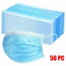 50pc Good Quality Disposable 3-ply Breathable Face Ma Sk For Lips Care Ear Loops Disposable Msk Tren