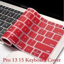 Peau de clavier anglais ue US pour Macbook Pro 13 15 CD ROM A1278 A1286 couverture de clavier mince imperméable à leau peau Film protecteur