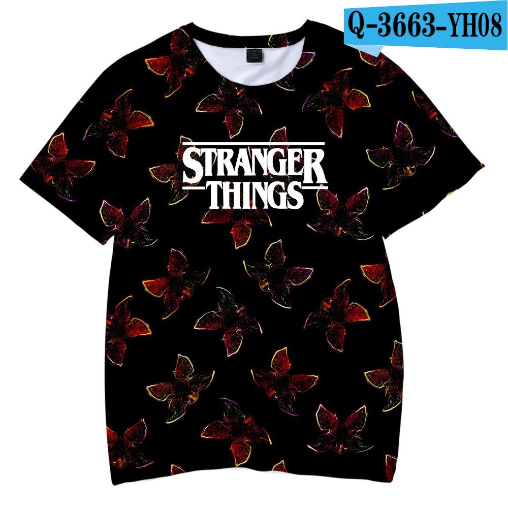 Gran oferta moda Cool niños camiseta Stranger Things 3D impreso 2019 camisetas TV Stranger Things Chicos Brand camisetas
