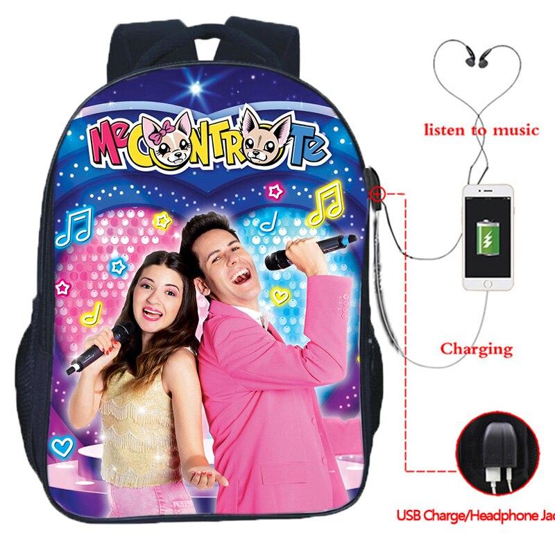 16Inch Me Contro Te USB Charging Backpack For Teens Girls School Bags Zipper Mochila Students Bookba