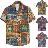 mens summer hawaii stag short sleeve floral shirt holiday beach aloha party tops