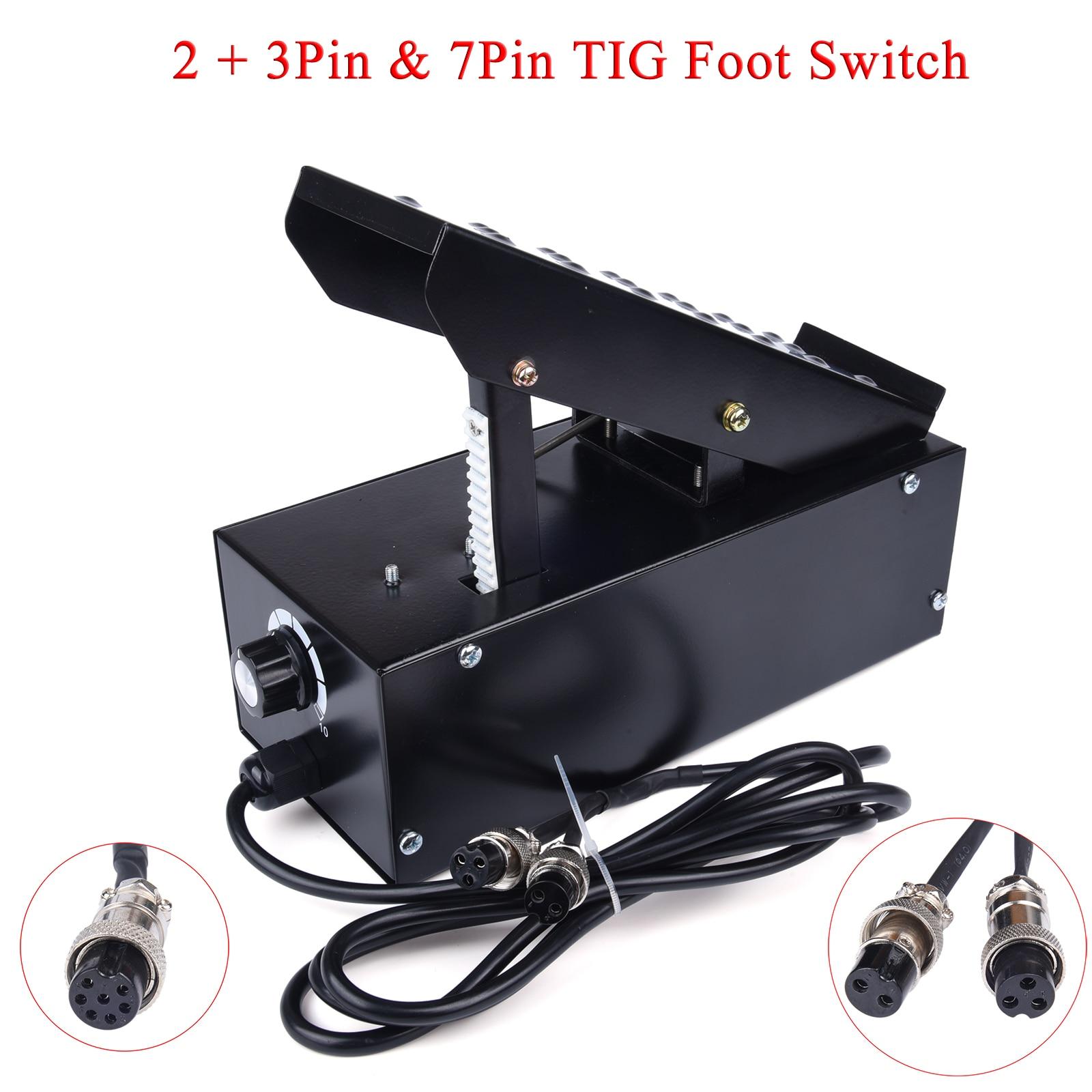 2 3/7 دبوس للتحكم في دواسة القدم ، مفتاح تيار قابل للتعديل بدون خطوات لآلة TIG ATGW Spot Weldding IGBT