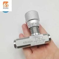 stu g14 carbon steel 14 hydraulic throttle valve stu type flow control valve