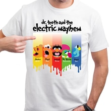 Dr dientes y la banda eléctrica Mayhem camiseta Muppet Rock House Band