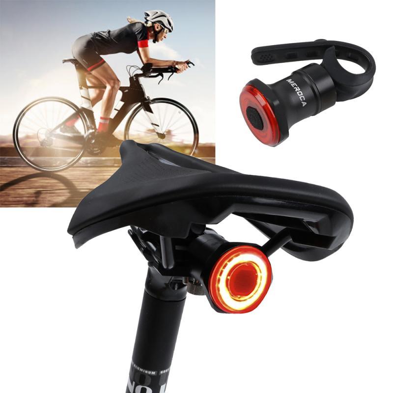 MEROCA-luz trasera inteligente para bicicleta de montaña, Sensor de inducción de freno,...