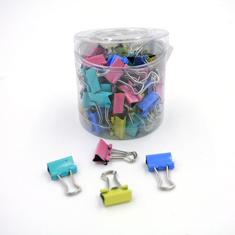 DINGHAN 60PCS/lot 15mm Colorful Metal Binder Clips Paper Clip Office Stationery Binding Supplies