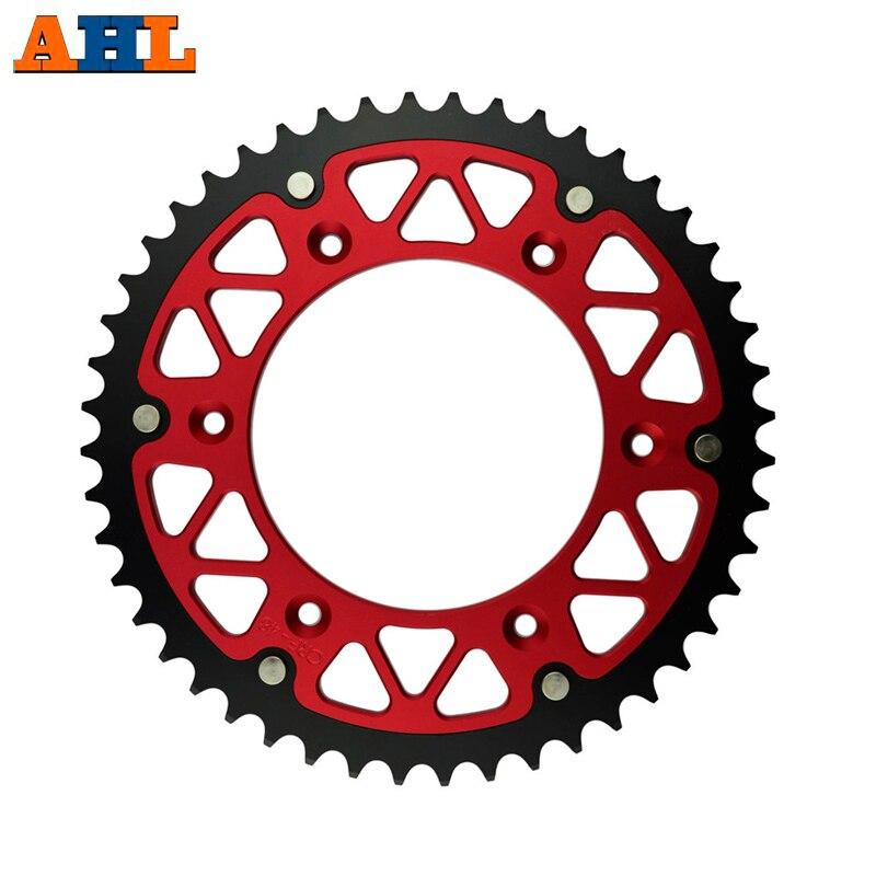 48T Motorrad Stahl Aluminium Verbund Kettenrad Für HONDA CR125R CRF250F CRF250X CRF230 CRF450R CR250R CR500R CR125 R