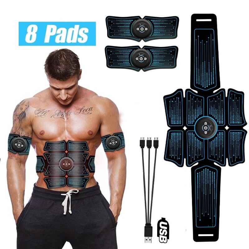 Электростимуляция мышц стимулятор EMS брюшный вибрирующий пояс ABS мышечный тренажер для бедер массаж домашний тренажерный зал фитнес-оборудование