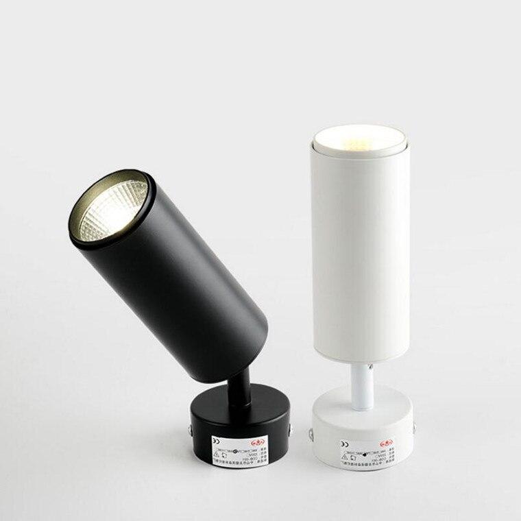 luz de led dobravel giratoria 360 luz de teto cob embutida em superficie luz de fundo para parede